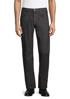 J Brand Kane Straight-Fit Textured Pants