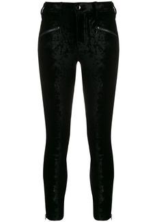 J Brand Kenna velvet skinny-fit trousers