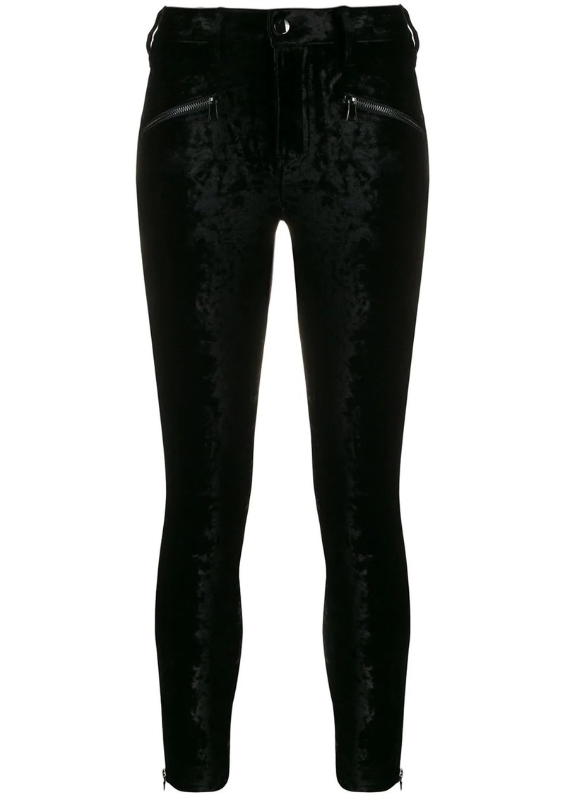 J Brand Kenna velvet skinny-fit trousers