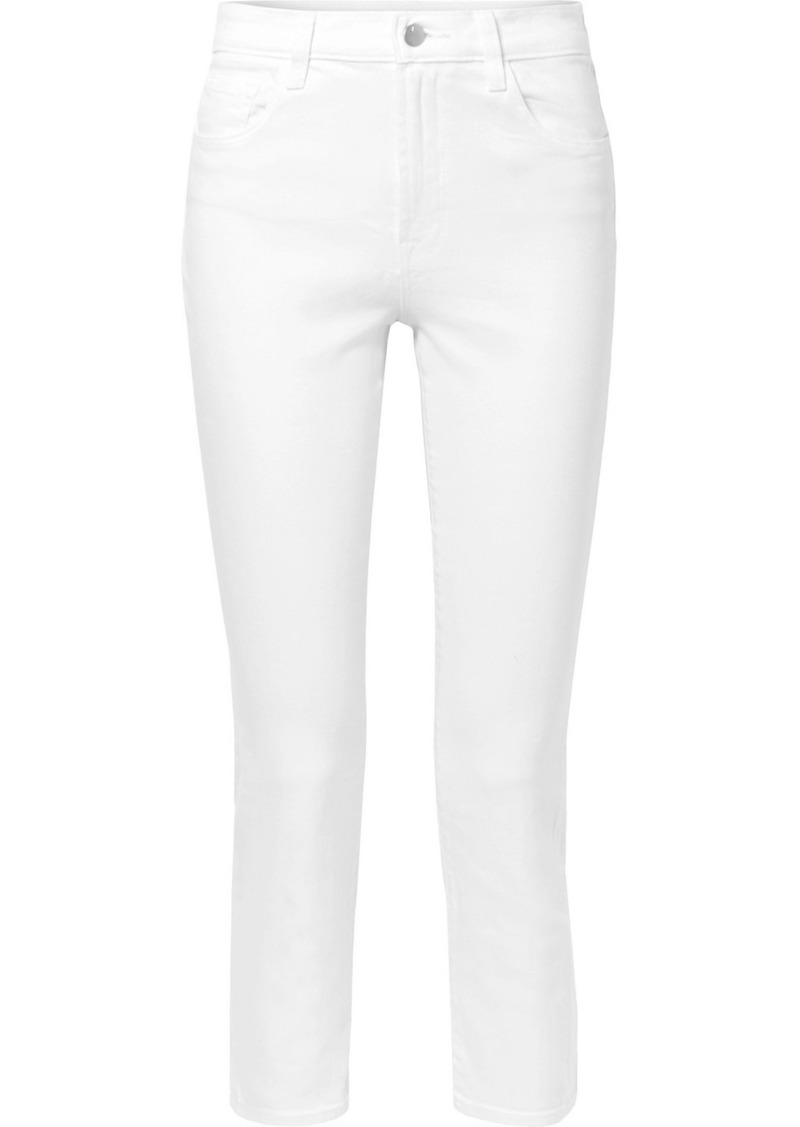 J Brand Kyrah Cropped High-rise Skinny Jeans