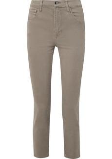 J Brand Kyrah Cropped Stretch Cotton-blend Twill Skinny Pants
