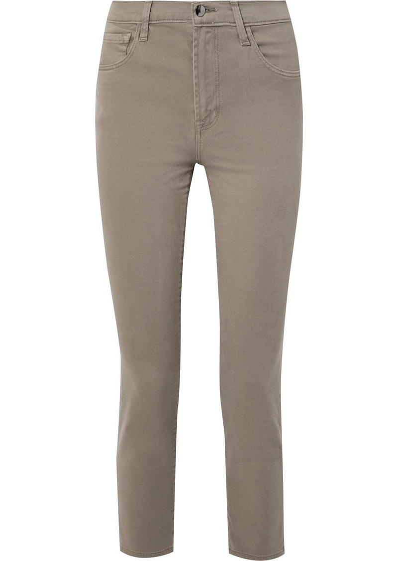 J Brand Kyrah Cropped Stretch Cotton-blend Twill Skinny Pants