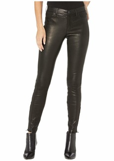 J Brand L8001 Mid-Rise Skinny Pants in Noir