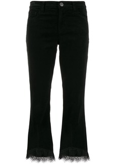 J Brand lace detail cropped-length trousers