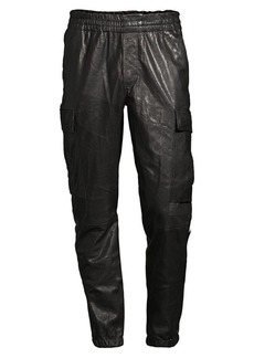 J Brand Leather Jogging Pants