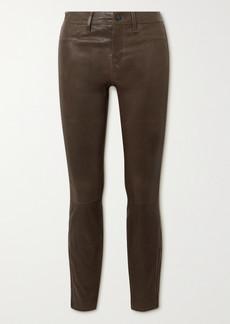 J Brand Leather Skinny Pants