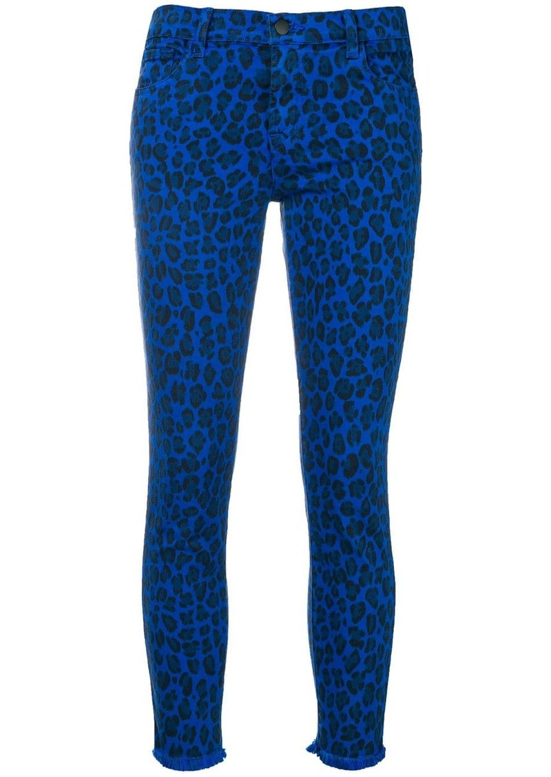 J Brand leopard-print jeans