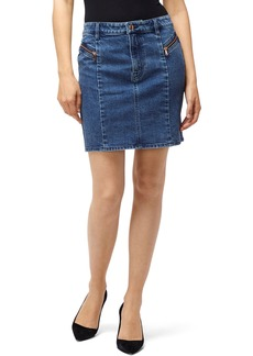 J Brand Lillian Seamed Denim Mini Skirt