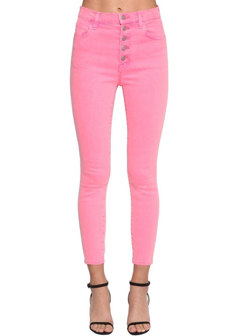 J Brand Lillie Buttoned Skinny Denim Jeans