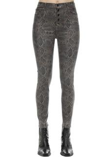 J Brand Lillie High Rise Boa Print Coated Jeans