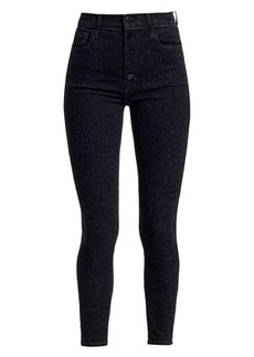 J Brand Lillie High-Rise Leopard Crop Skinny Jeans