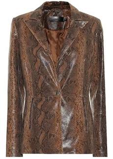 J Brand Londyn snake-effect leather blazer