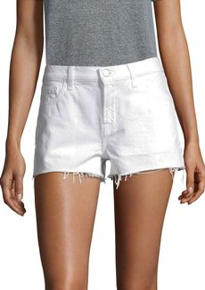 J Brand Low-Rise Released Hem Shorts
