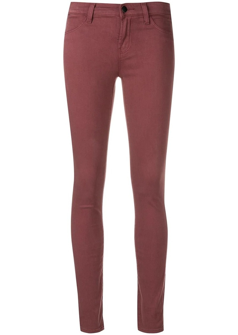 J Brand low rise skinny jeans