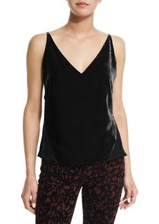 J Brand Lucy V-Neck Camisole  Black