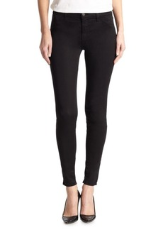 Luxe Sateen Mid-Rise Super Skinny Jeans