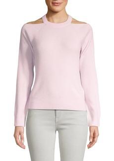 J Brand Mackenzie Cashmere Cold-Shoulder Sweater