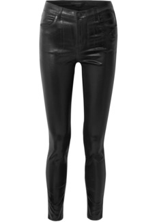 J Brand Maria Coated High-rise Skinny Jeans