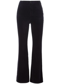 J Brand Maria high rise velvet-like trousers