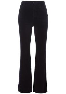 J Brand Maria high rise velvet-like trousers