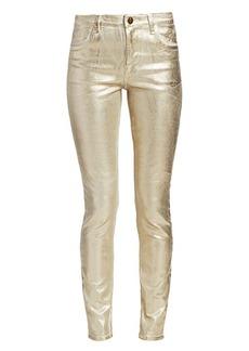 J Brand Maria High-Rise Metallic Skinny Jeans