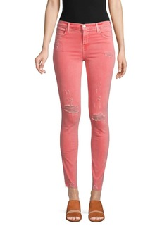J Brand Maria High-Rise Skinny-Fit Jeans