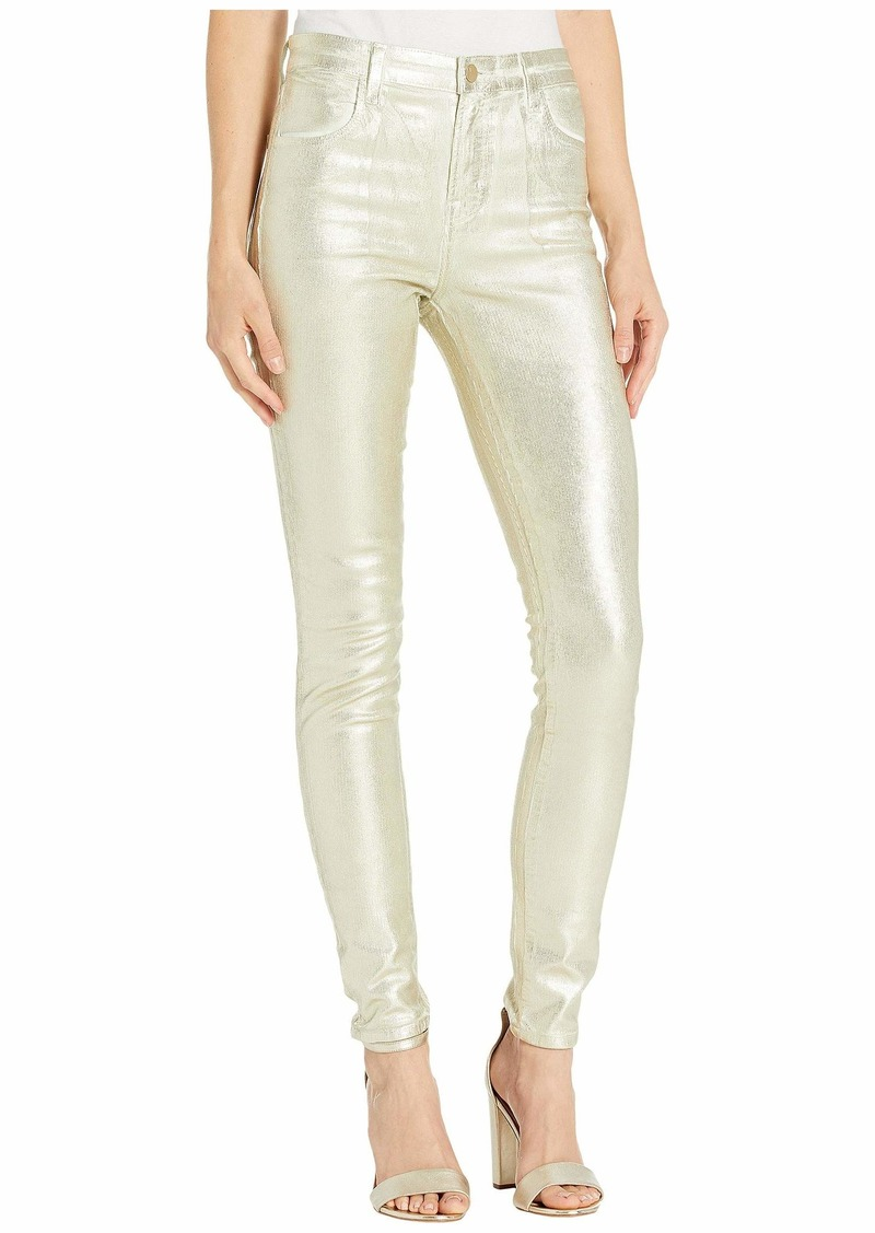 J Brand Maria High-Rise Skinny in Gold Messaline