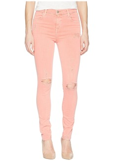 J Brand Maria High-Rise Skinny in Grapefruit Exposure