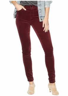 J Brand Maria High-Rise Skinny in Oxblood