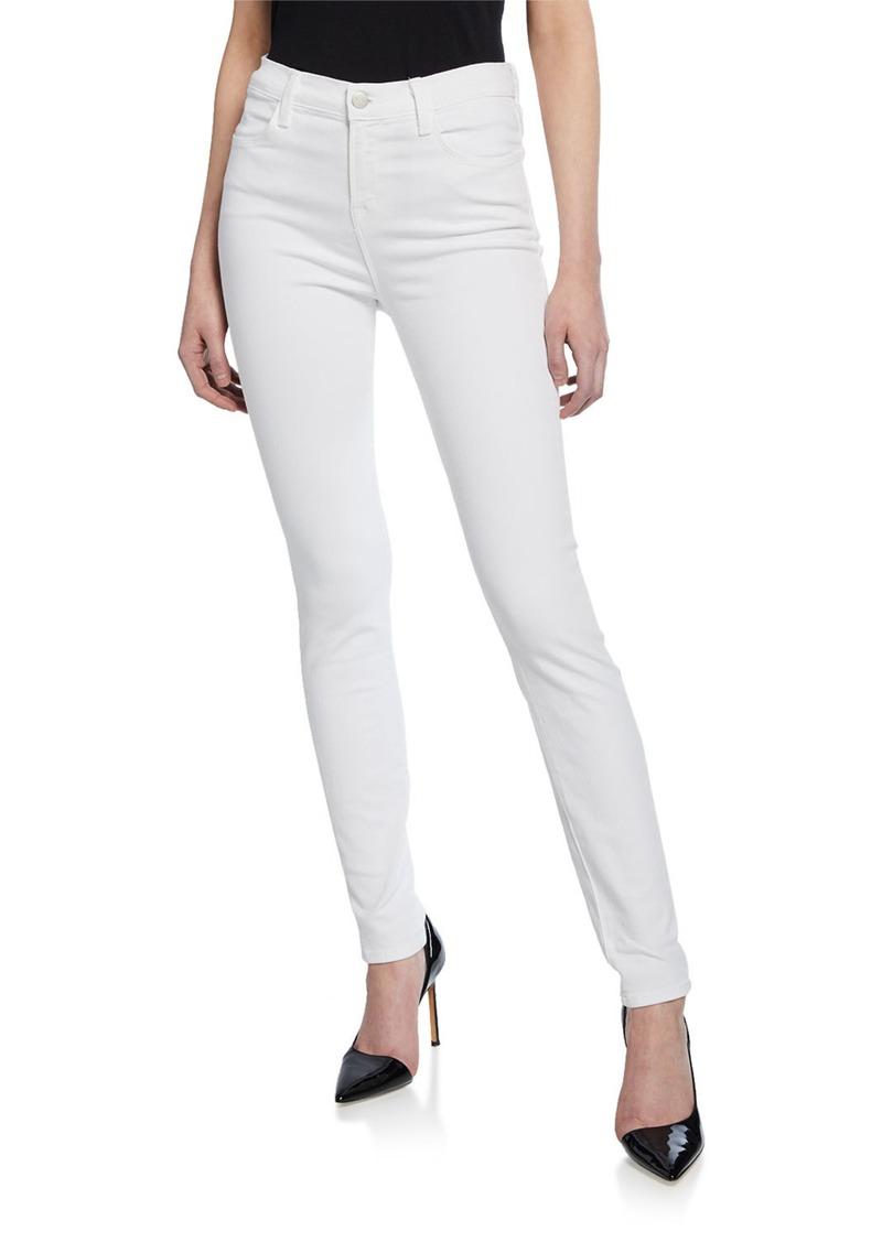 J Brand Maria High-Rise Skinny Jeans  Blanc