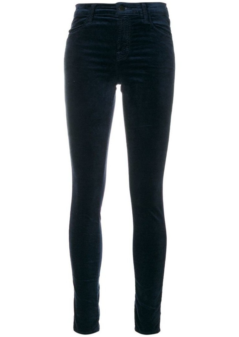 J Brand Maria high rise skinny trousers