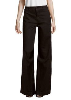 Melody High-Rise Cotton-Blend Wide-Legged Pants