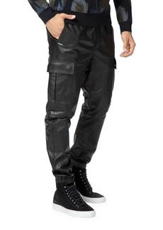 J Brand Men's Fenix Lamb Leather Cargo Pants