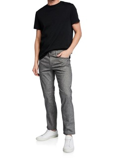 J Brand Men's Kane Straight-Fit Washed Melange Jeans