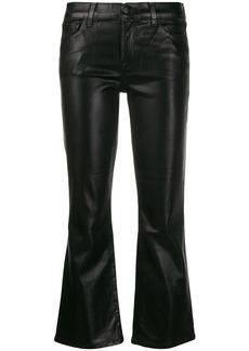 J Brand metallic bell-bottom trousers