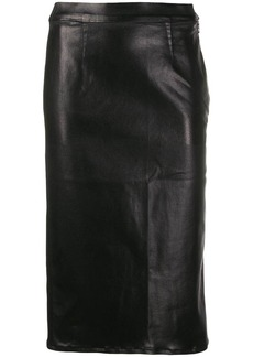 J Brand metallic-effect midi skirt