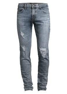 J Brand Mick Low-Rise Skinny Distressed Jeans