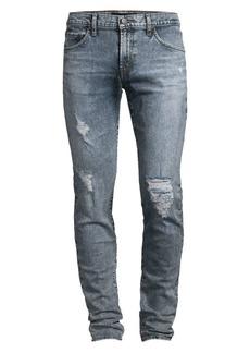 J Brand Mick Low-Rise Skinny Distressed Jeans