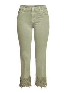 J Brand Mid Rise Crop Bootleg Selena Jeans