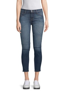 J Brand Mid-Rise Cropped Skinny Jeans