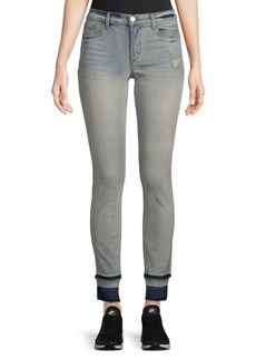 J Brand Mid-Rise Distressed Jeans