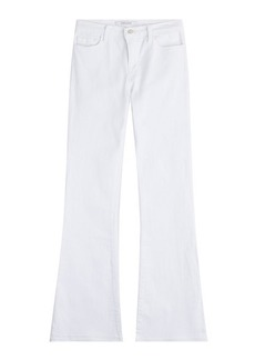 J Brand Mid Rise Sneaker Flared Jeans