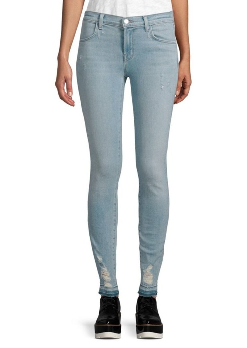 J Brand Mid-Rise Super Beach Line Jeans