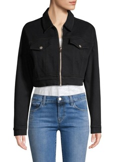 J Brand Moto Cropped Denim Jacket