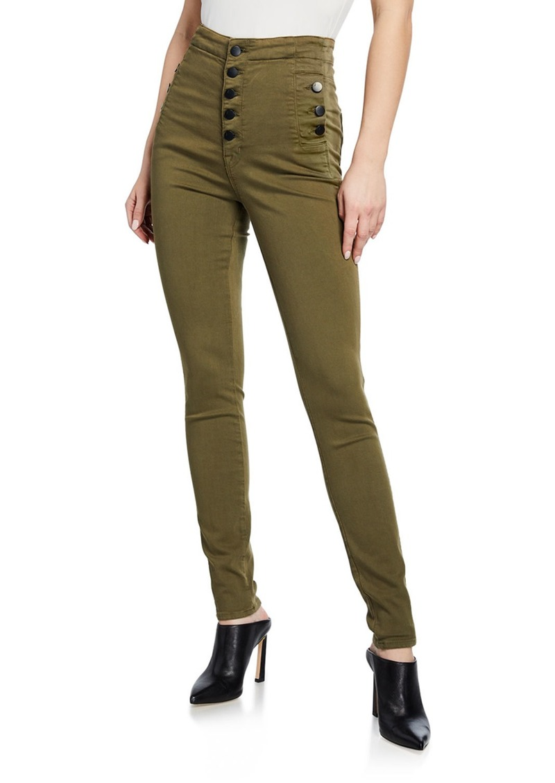 J Brand Natasha Button-Fly Ankle Skinny Pants