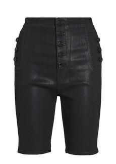 J Brand Natasha Coated Denim Shorts