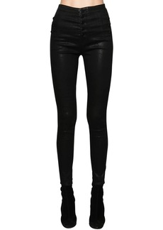 J Brand Natasha High Rise Coated Cotton Jeans