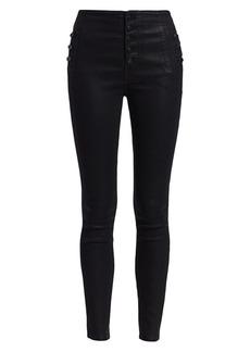 J Brand Natasha High-Rise Skinny Coated Jeans