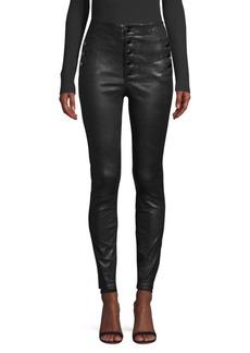 J Brand Natasha High-Rise Skinny Leather Pants