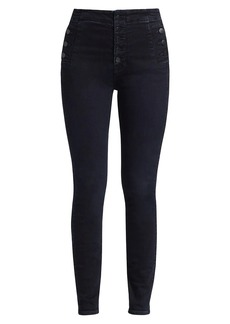 J Brand Natasha Sky High Buttoned Skinny Jeans